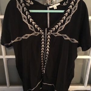 Light tunic top with fun detailing